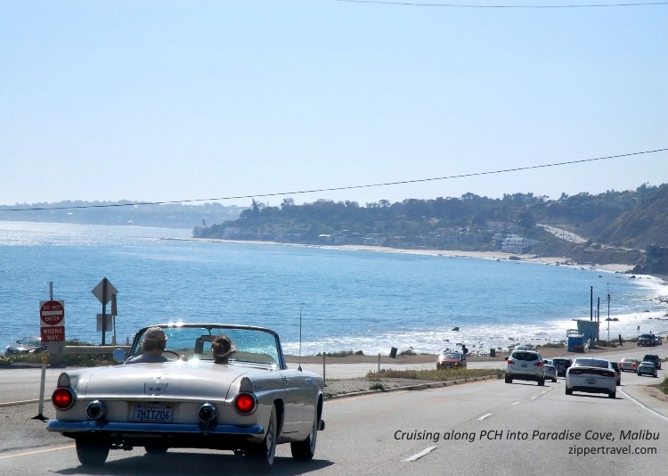 classic convertible pacific coast highway paradise cove malibu