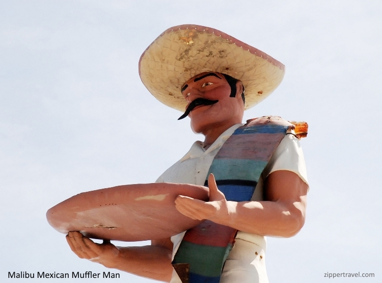 malibu mexican muffler man close-up