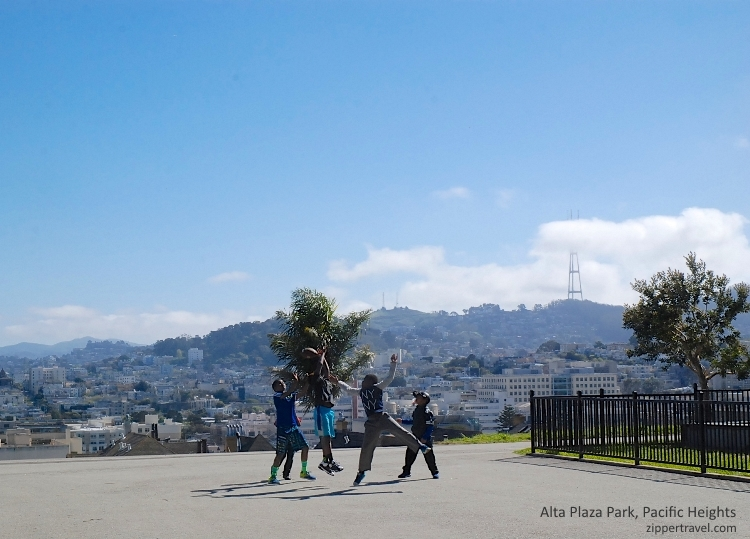 boys playing ball alta plaza park pacific heights san francisco