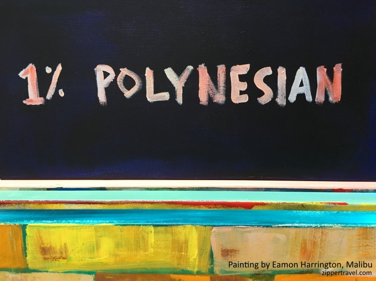 Eamon Harrington painting 1% polynesian malibu california