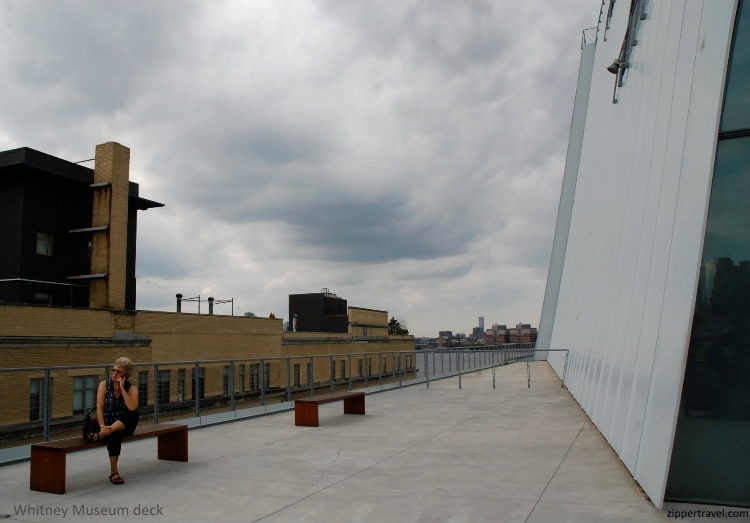 woman-talking-phone-outside-deck-whitney-museum