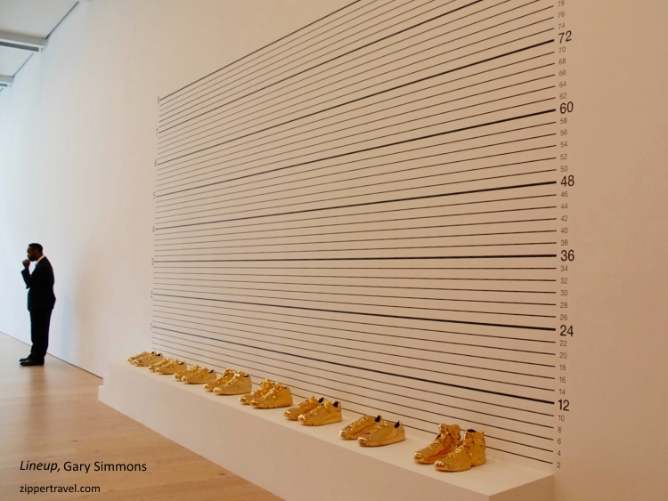 lineup-gary-simmons-gold-shoes-whitney-museum
