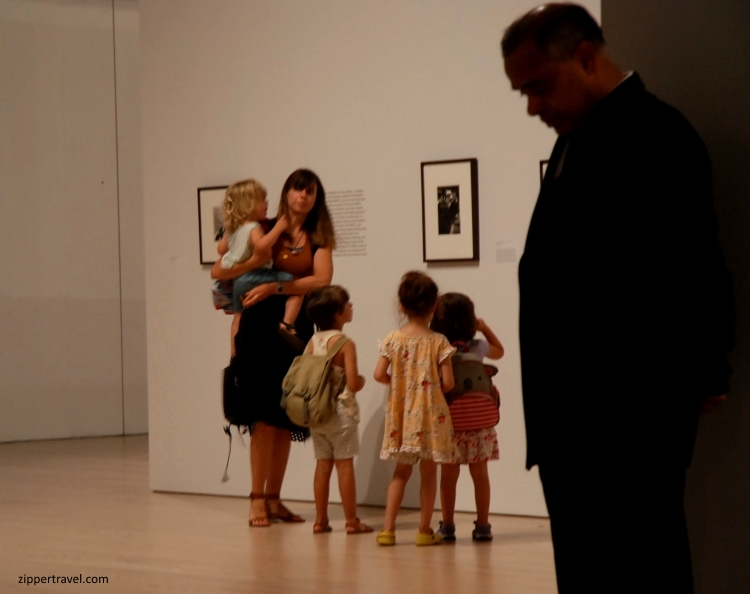children-mother-whitney-museum-guard