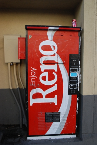 Enjoy Reno old Coke machine