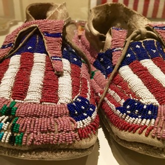 beaded native american flag mocassins