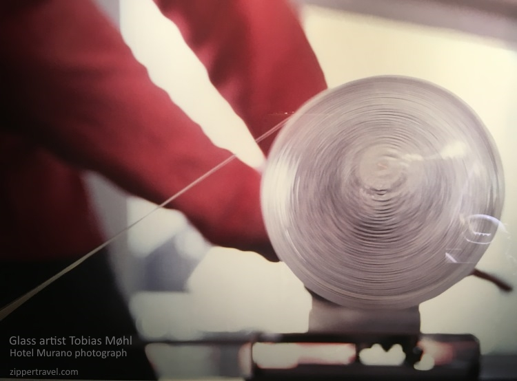 rolling glass threads Tobias Mohl photograph Hotel Murano Tacoma Washington