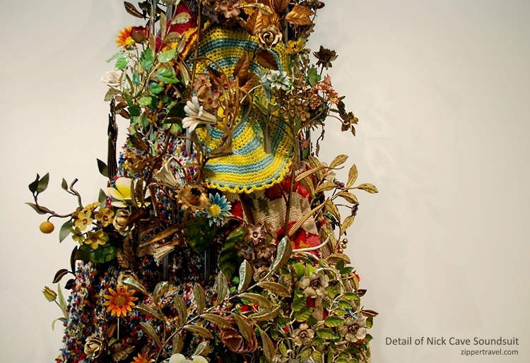 Nick Cave flowers Soundsuit Anderson Collection Stanford University