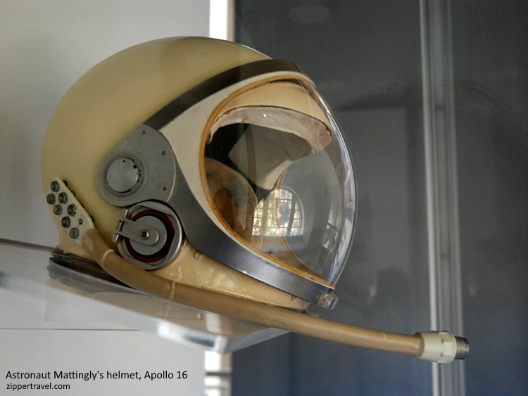 Apollo Astronaut Thomas K Mattingly space helmet California Science Center