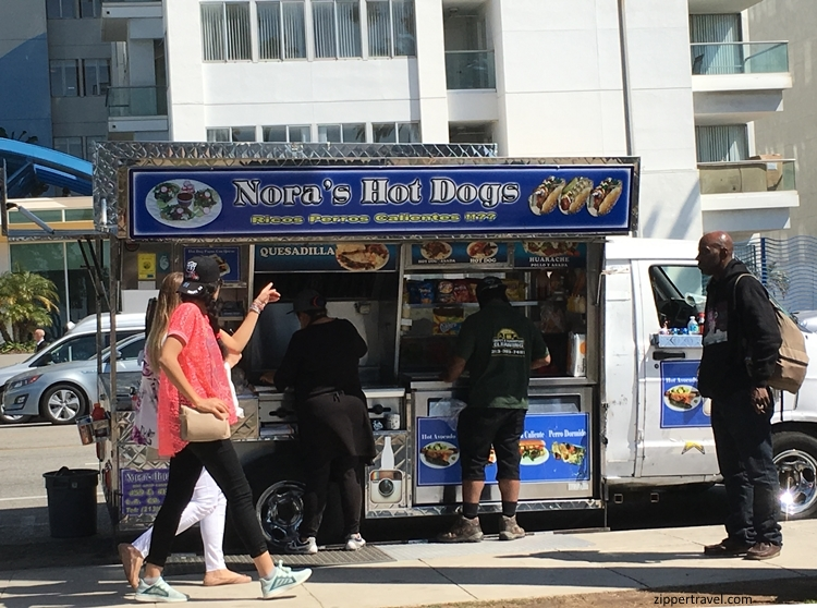 nora's hot dogs santa monica california