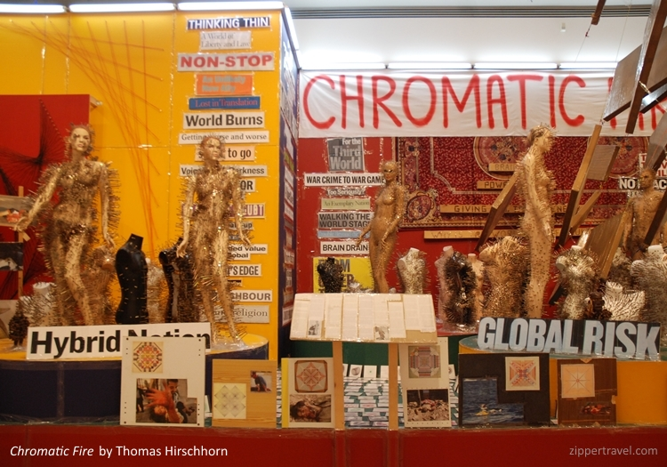 Chromatic Fire Thomas Hirschhorn MOCA Los Angeles