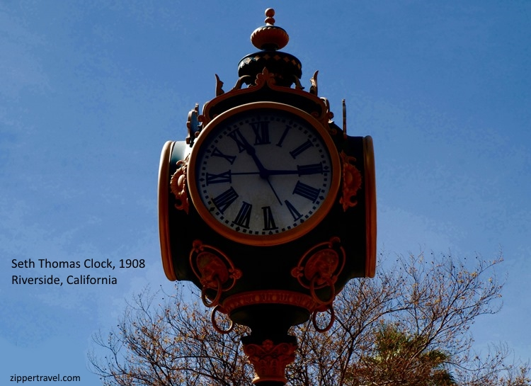 Seth Thomas Clock Main St pedestrain mall Riverside California