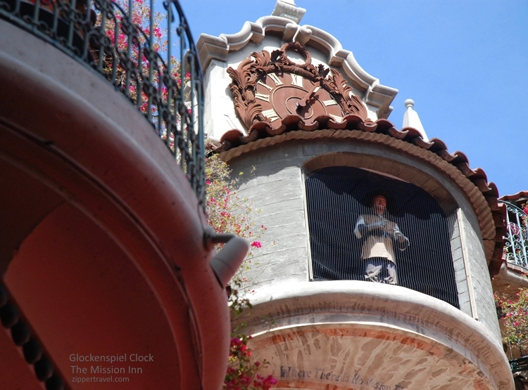 Glockenspiel clock Mission Inn Riverside California