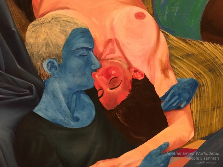Another Green World detail Nicole Eisenman MOCA Los Angeles