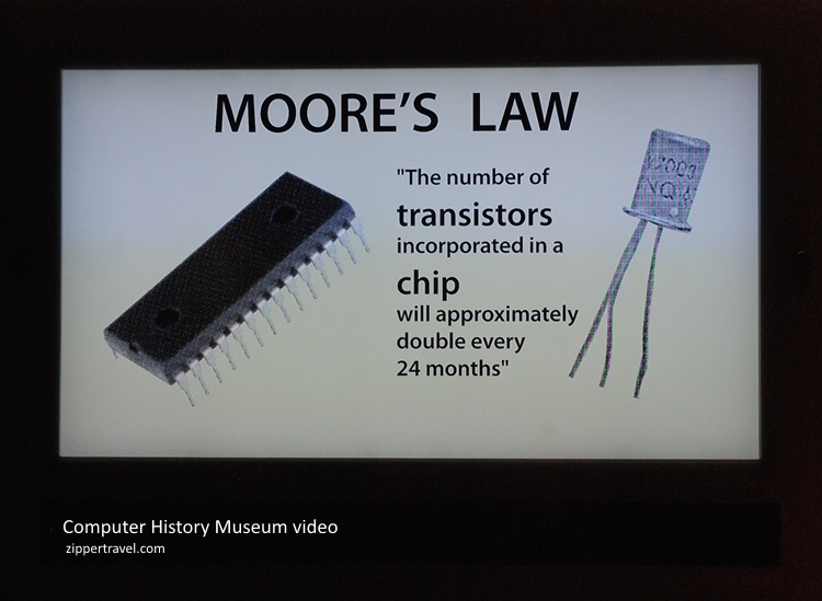 Gordon Moore's Law video still Computer History Museum Mountain View CA