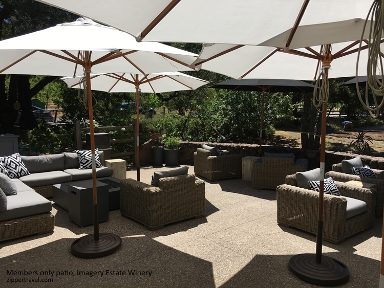 Imagery Estate Winery members only patio Valley of the Moon Sonoma CA