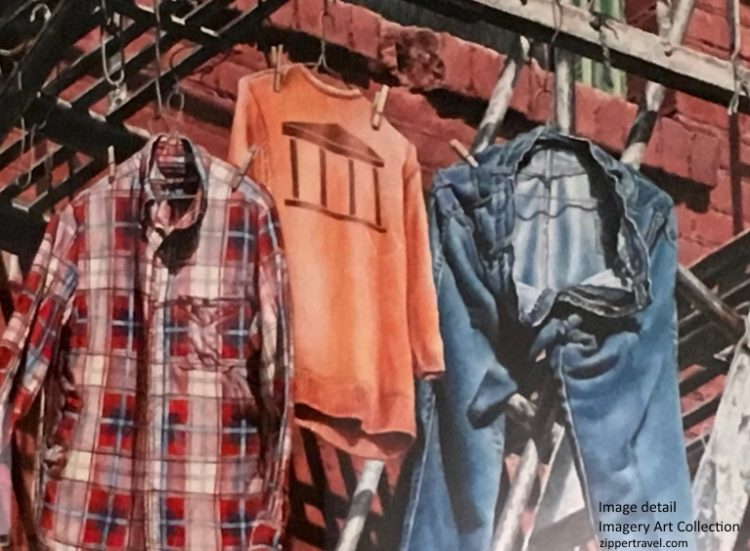 Imagery Art Collection clothes hanging fire escape Valley of the Moon Sonoma CA