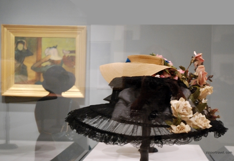 Legion Honor Degas painting lady wearing hat vintage hats San Francisco