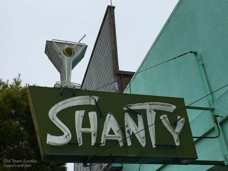 Shanty bar sign Eureka California
