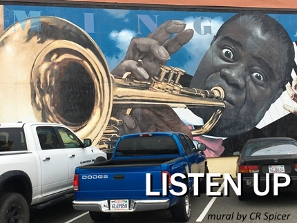 Louis Armstrong by CR Spicer Eureka California