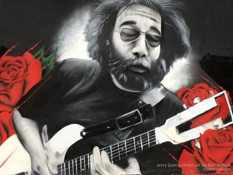 Jerry Garcia mural Mel Waters Haight Ashbury Summer of Love revisited