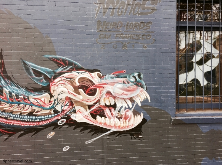 Nychos Weird Lords SkeletonCreature street art Summer of Love Revisited