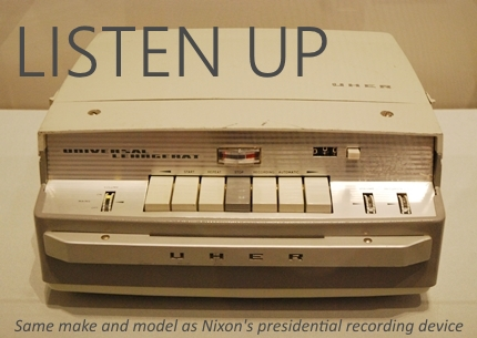 Uher tape machine Nixon Library