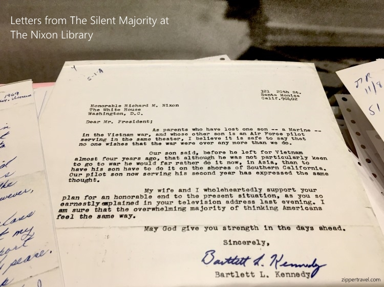 Silent Majority letter Nixon Library