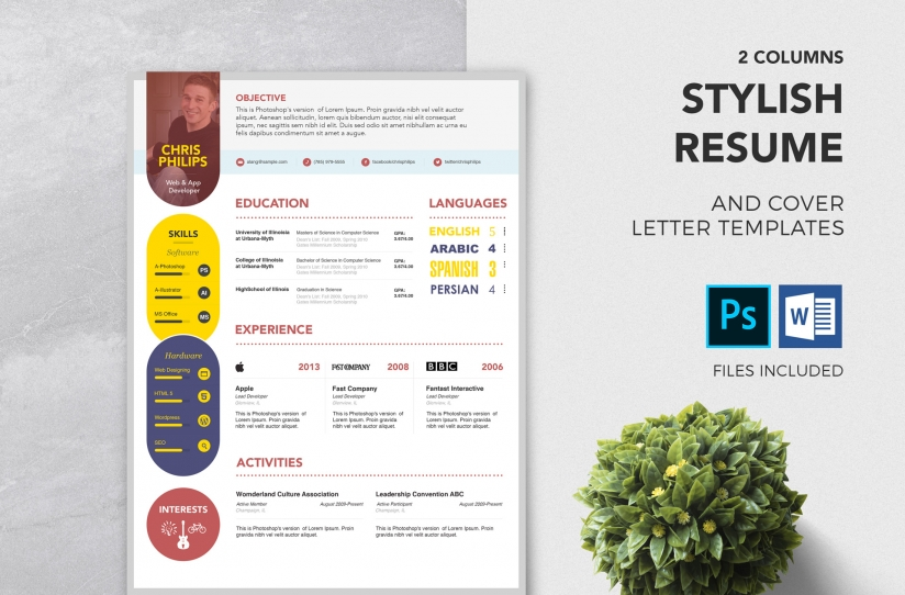 Free PSD Resume & Cover Letter Template ZippyPixels
