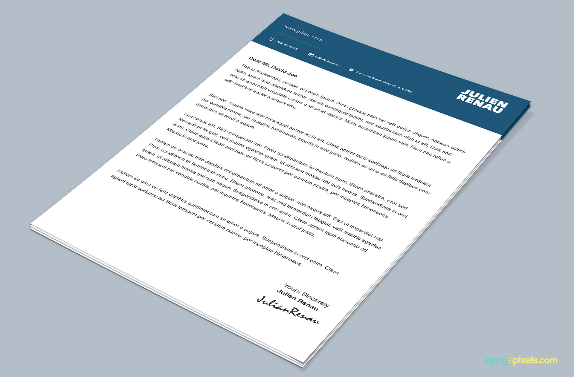 Cover Letter Example Cover Letter Template Psd