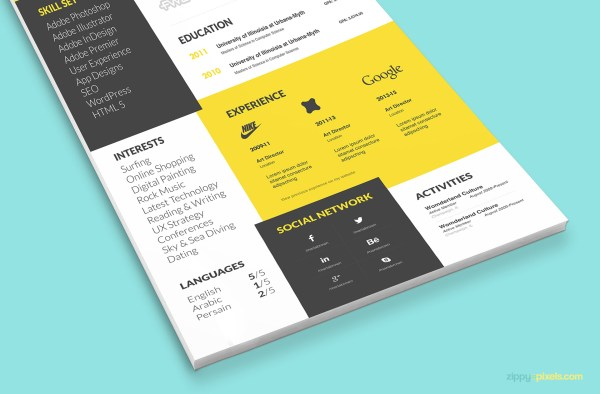 Cool Resume Template & Cover Letter Zippypixels