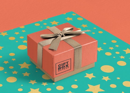 Download Gorgeous Free Gift Box Mockup PSD | ZippyPixels