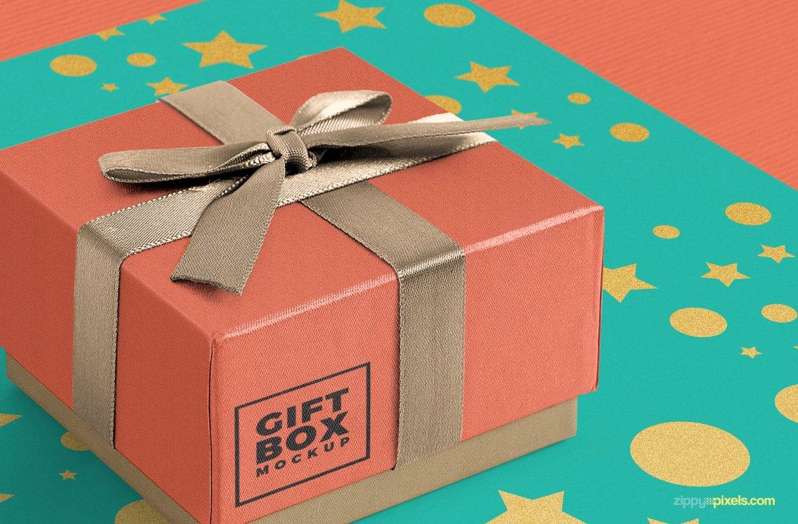 Download Gorgeous Free Gift Box Mockup PSD | ZippyPixels
