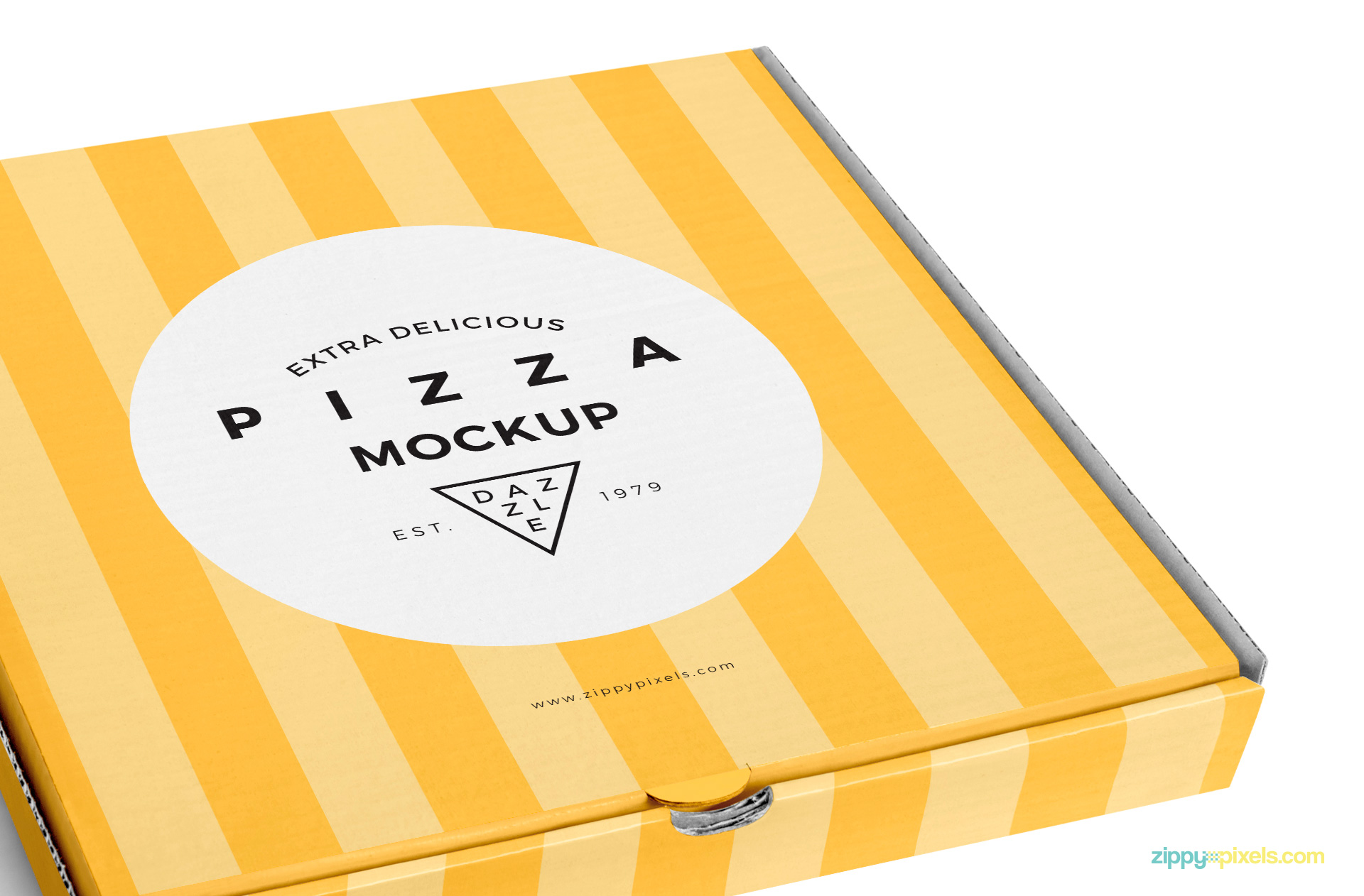 delicious pizza box mockup