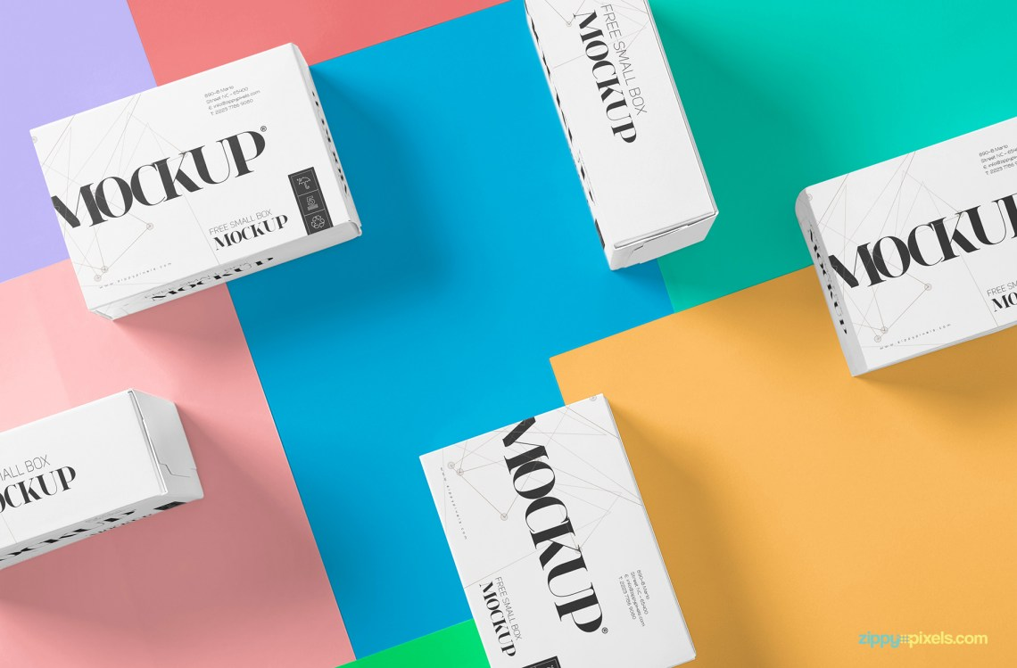 Download Beautiful Packaging Box Mockup Free   ZippyPixels