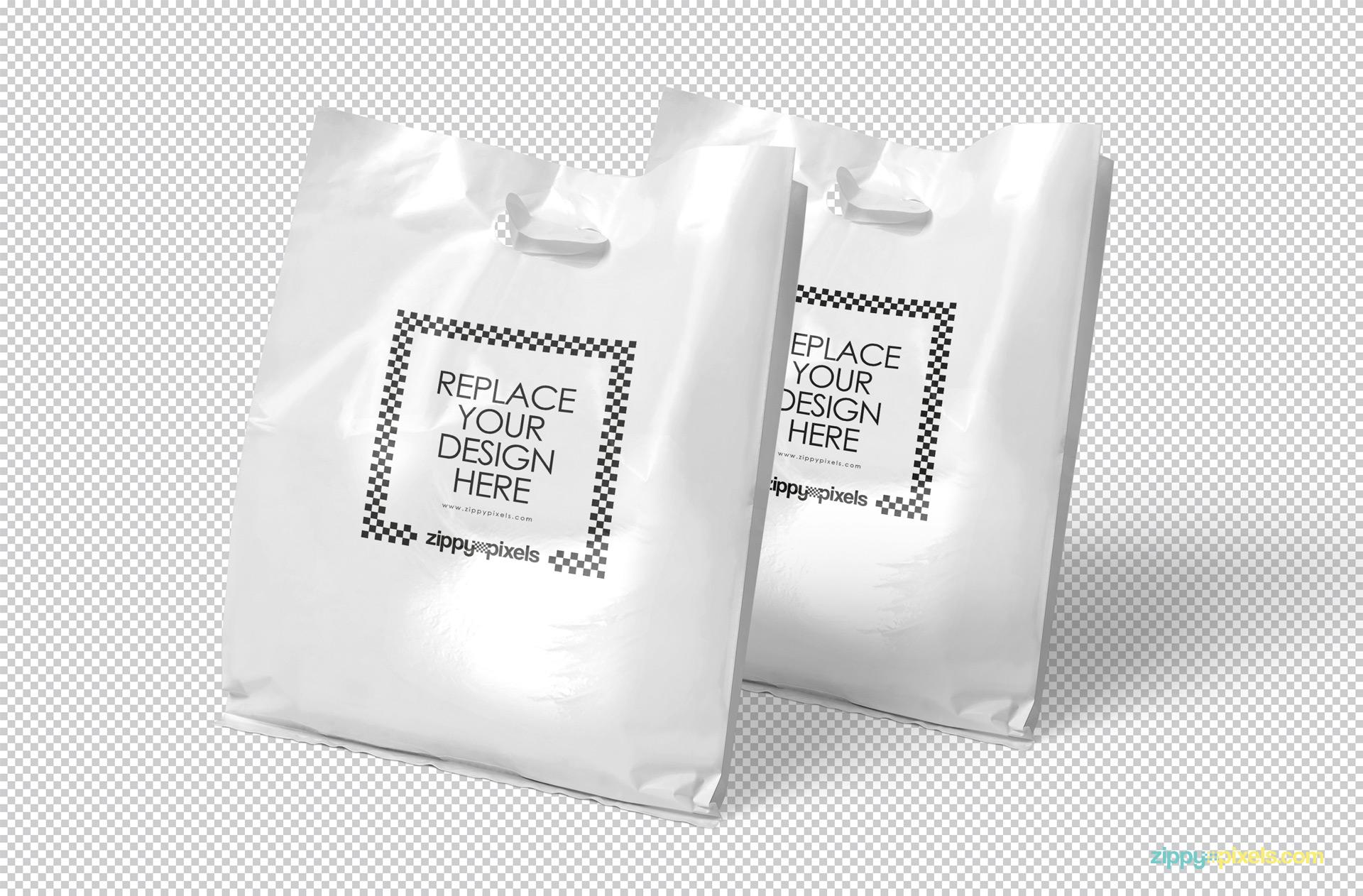 Free canvas bag mockup front view. Free Plastic Bag Mockup Zippypixels