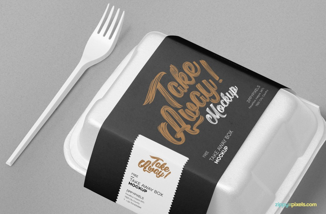 Download Free Disposable Food Packaging Mockup | ZippyPixels