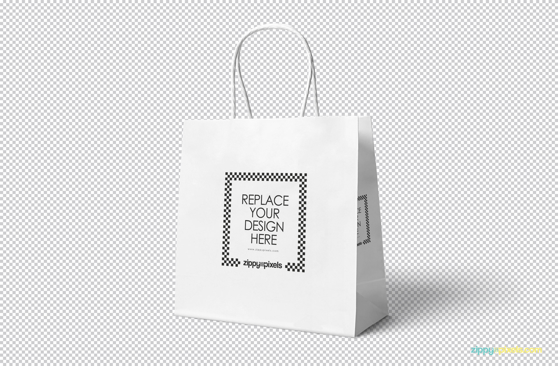 Simple edit with smart layers. Free Attractive Gift Bag Mockup Zippypixels