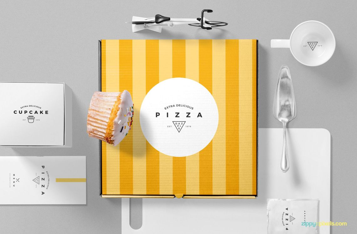 Download Pizza Packaging Mockup Free PSD Scene | ZippyPixels