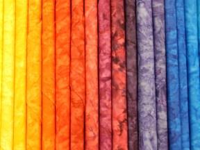Yummy fabrics at Studio Stitch, where I sometimes teach