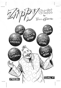 Zippy The Pinhead: Large Pages, Cover Art