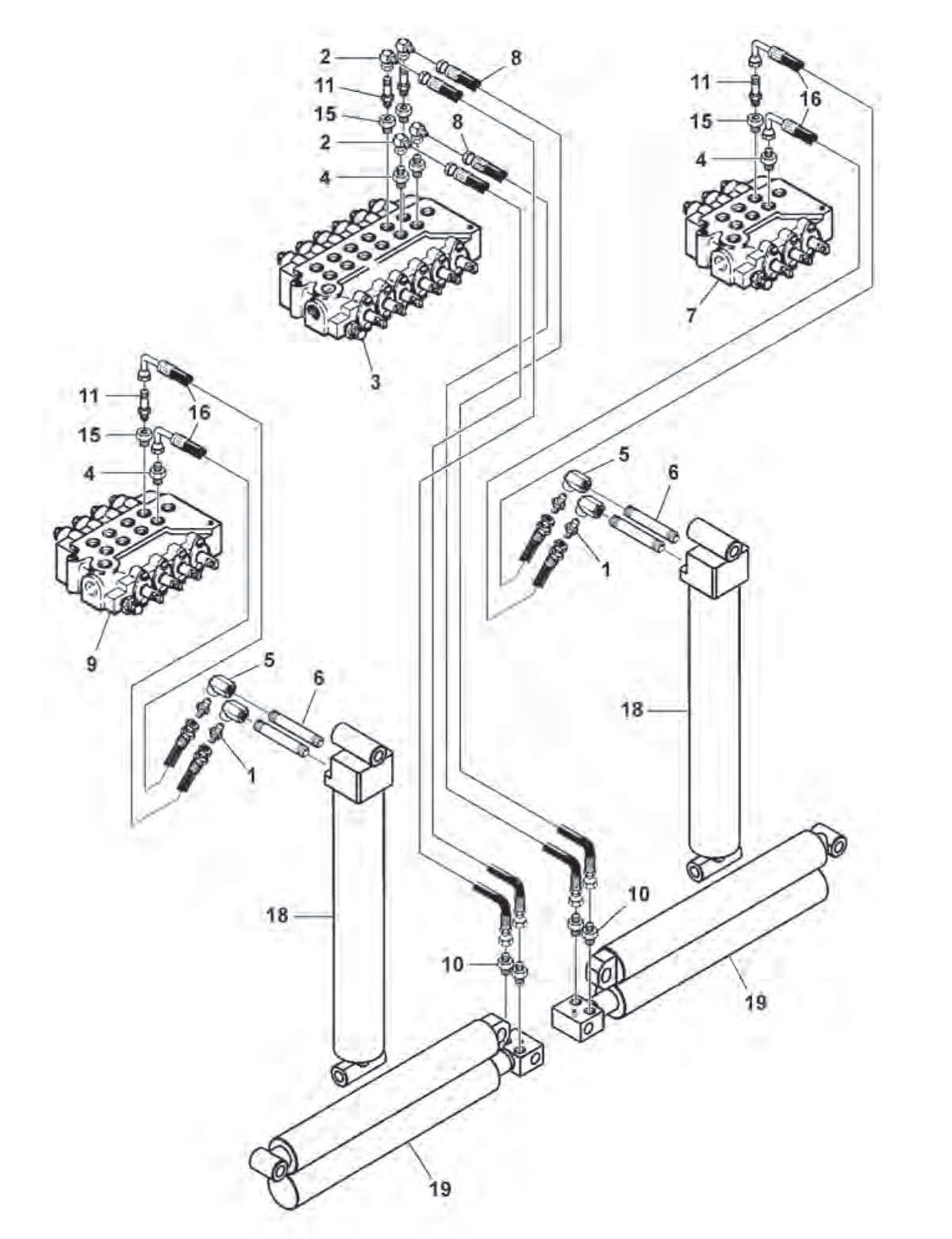 medium resolution of rear outrigger hydraulics parker hydraulic schematics diagram trailer out riggers