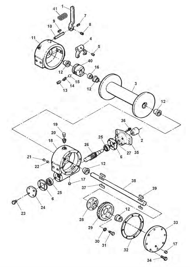 hydraulic winch diagram
