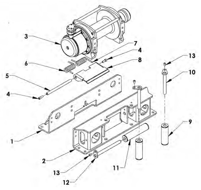 warn m8000 wiring diagram narva led trailer lights winch schematics wench 10000 model