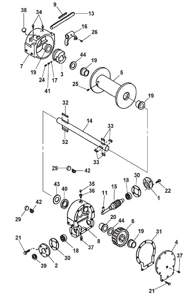 Hydraulic Winch Assembly