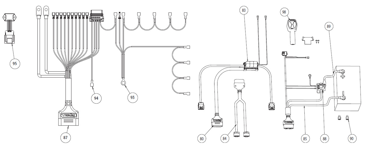 hiniker v plow wiring diagram parts of a feather snowdogg harness boss