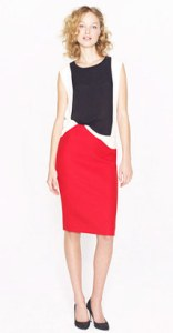 Red Skirt with Black and White