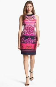 Adrianna Papell Digital Print Wedding Guest Dress