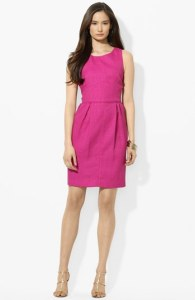 Ralph Lauren Sheath Wedding Guest Dress