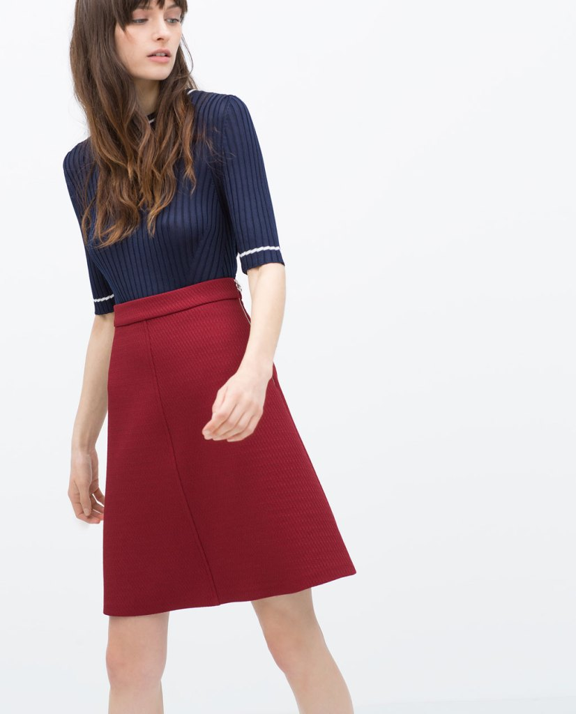 zara woven skirt seattle personal stylist