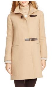nordstrom ralph lauren beige coat